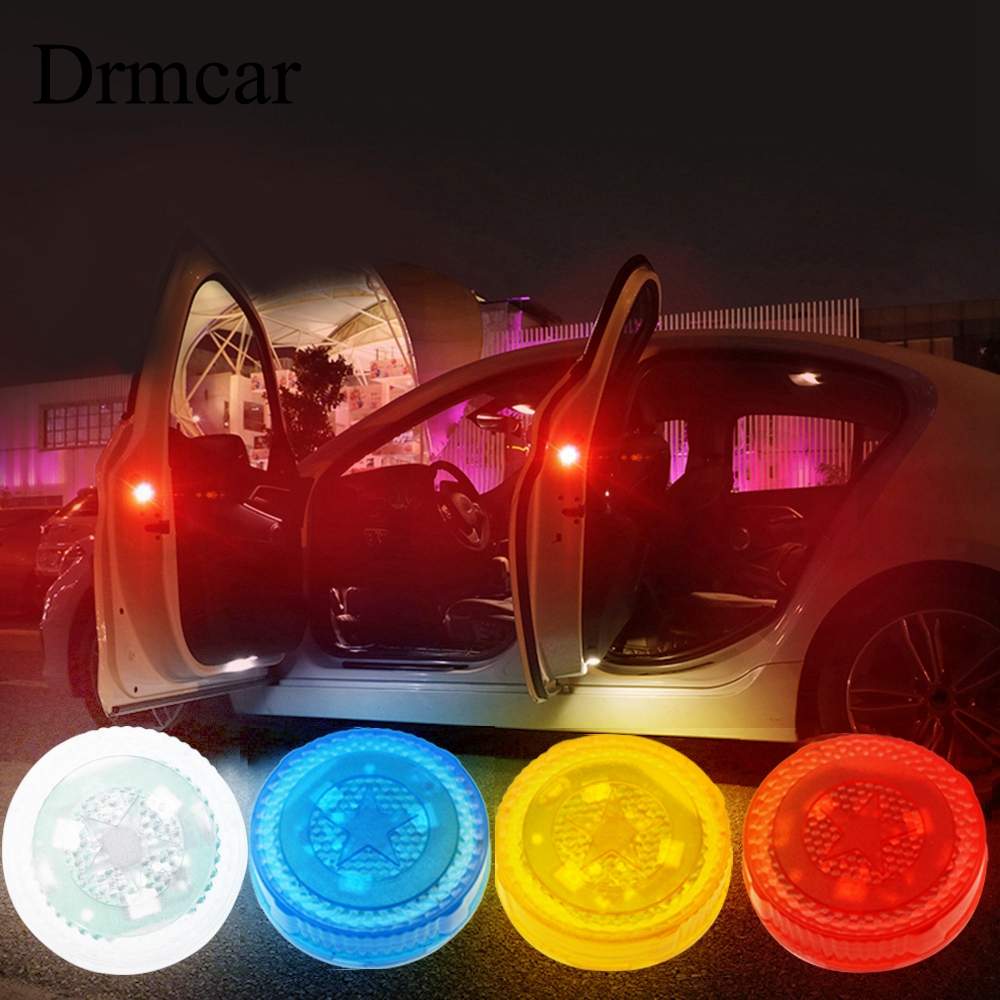 1pcs Car Door Warning Light Car Led Anti-collision Lights Flash Light Red Kit Wireless Alarm Lamp Anti-collid Signal Light