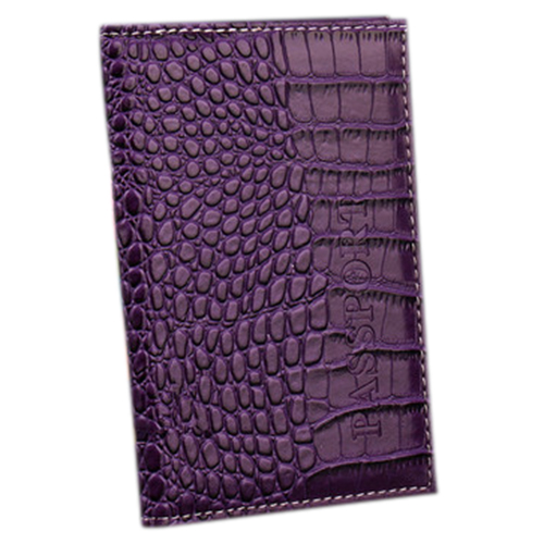 PU Leather Protective Cover Travel Case Protective Case passport holder, purple стоимость