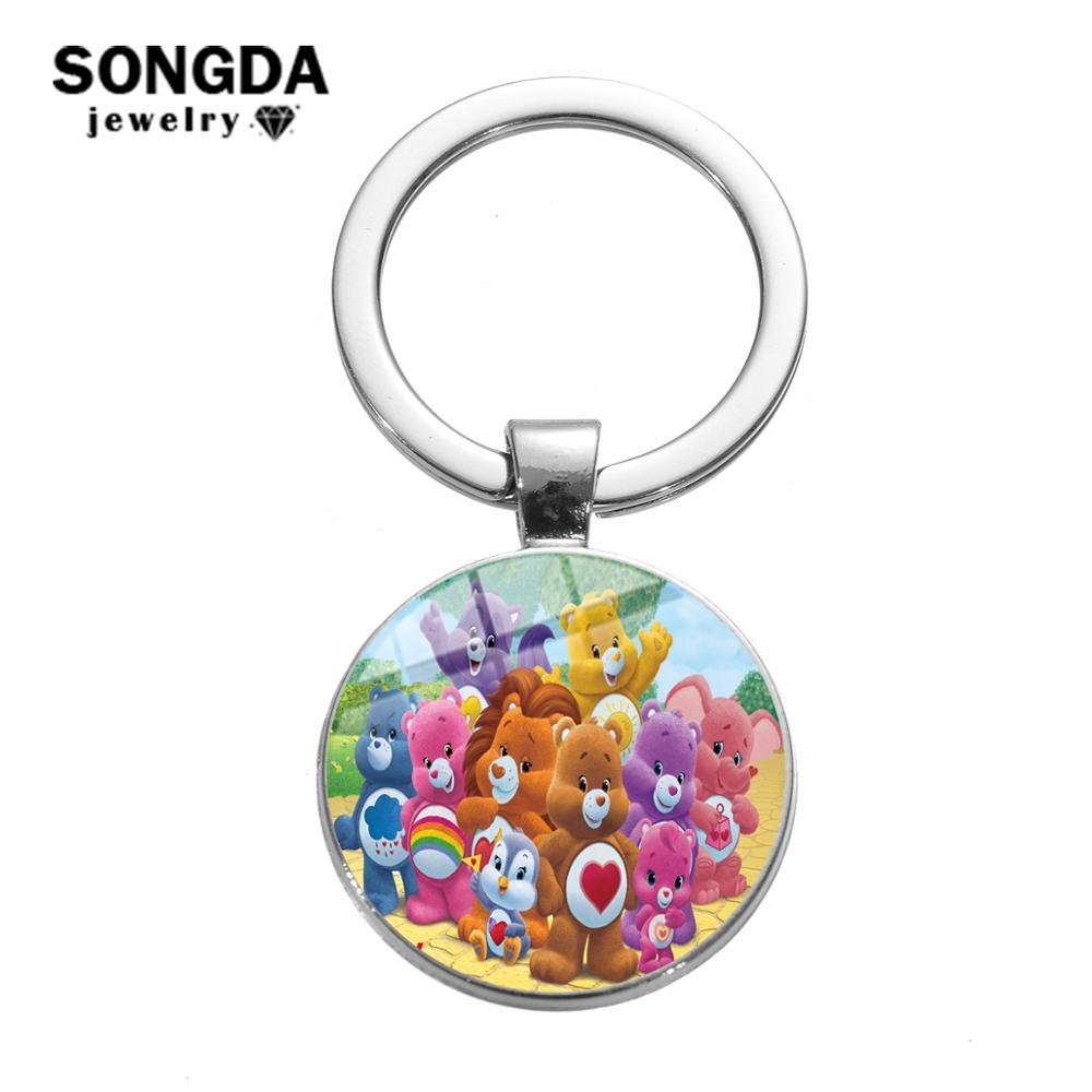 To My Son Photo  Cabochon Glass Tibet Silver Keychain Keyring