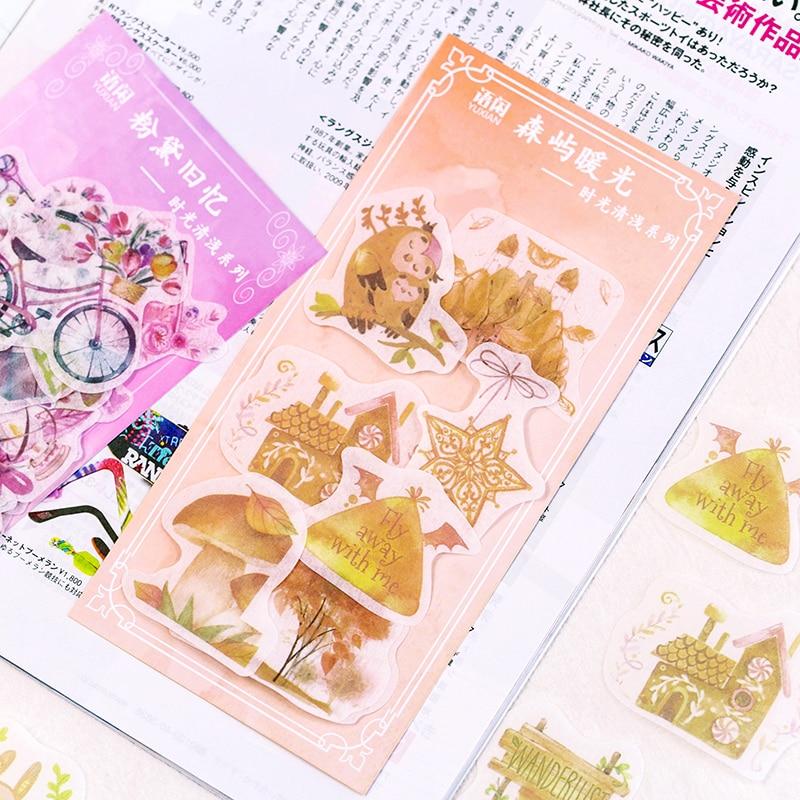 Купить с кэшбэком 60pcs/bag Time light series sticker child diary diy sticker Photo album decoration stickers scrapbooking student stationery