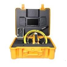 Трубы инспекции камера 50 м кабель 7'TFT мониторы видео бороскоп SD Card DVR водостойкий эндоскоп для трубопроводов клавиатура текст писатель