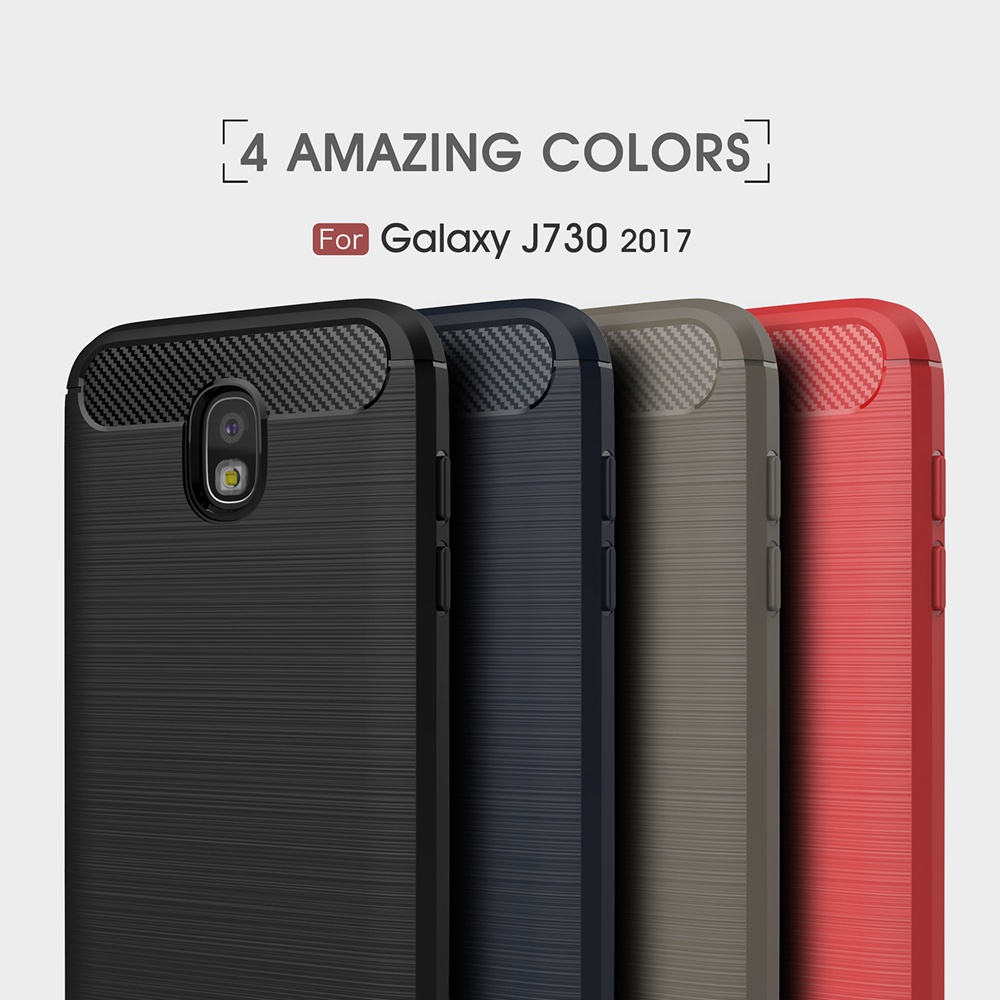 Carbon Fiber Case For Samsung Galaxy J7 2017 Pro Case For Samaung J7 Pro Case J730 Eurasian Version Ultra Slim Gel Silicon Cover
