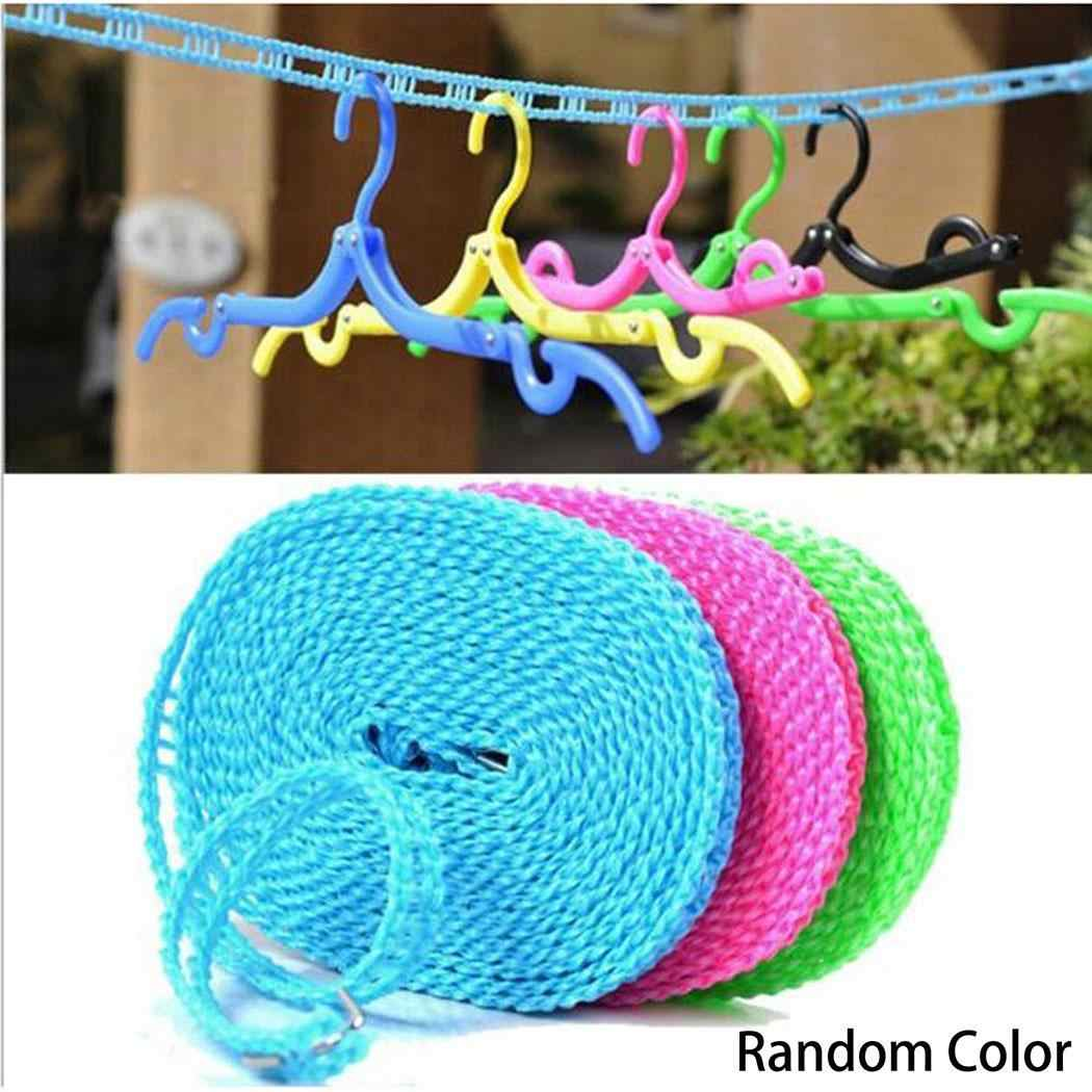 Nylon Hanger Multi-functional Hang Dry and Wet Clothes Non-Slip Random 5m Indoor Rope