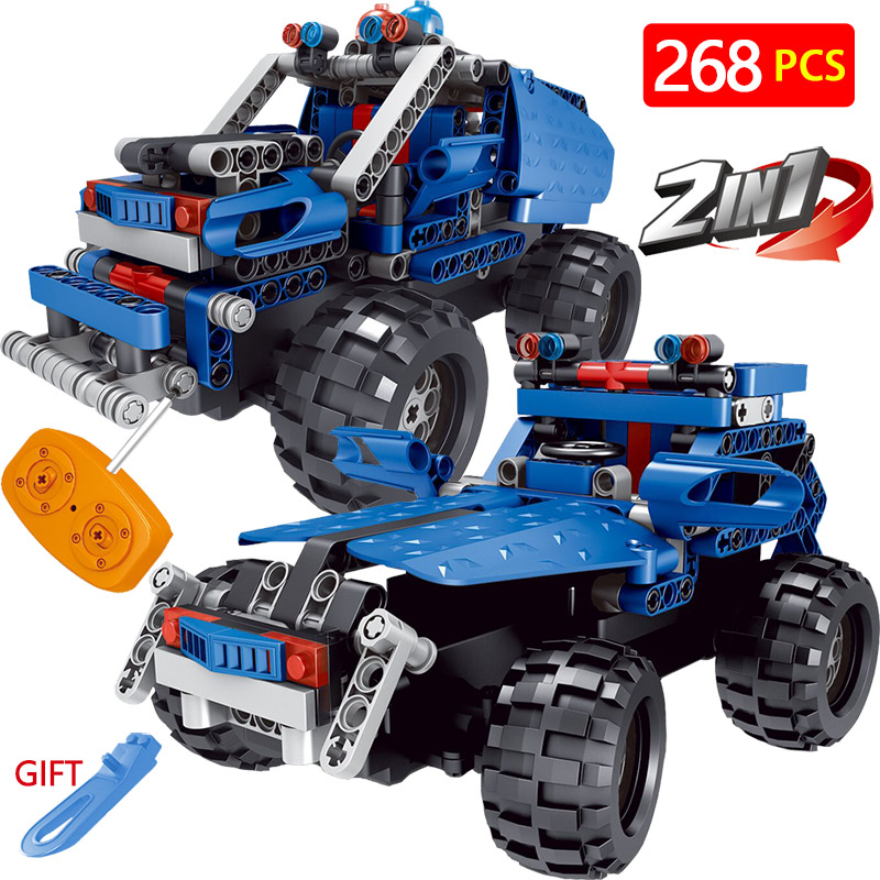 Radio Remote Control Machine Car Blocks Kit LegoINGlys Technic Vehicle Motor Truck SUV Simulation DIY Bricks Toys For Children 2 in 1 rc car compatible legoinglys radio technical vehicle green suv control blocks assembled blocks children toys gift
