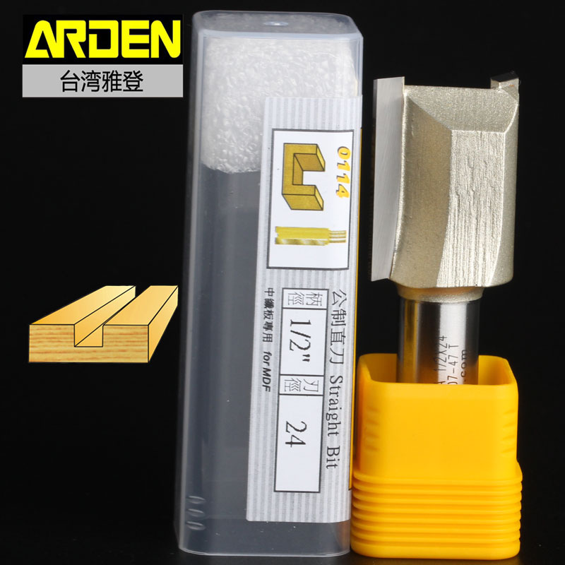 fresas para router Woodworking Tools Metric Flute Straight Bit Arden Router Bits - 1/2*24mm - 1/2 Shank - Arden A0114528 fresas para router woodworking tools 45 deg chamfer arden router bit 1 4 1 4 1 4 shank arden a0209014