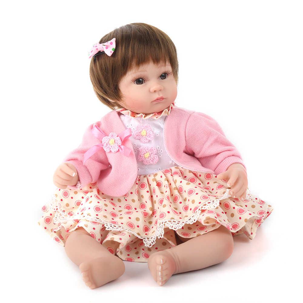 16 Polegada 40 cm Silicone Boneca Reborn Vivo Realistas Reais Bonecas Lol Boneca De Menina Bebe Realista Crianças De Banho Menina brinquedo Presente da Criança