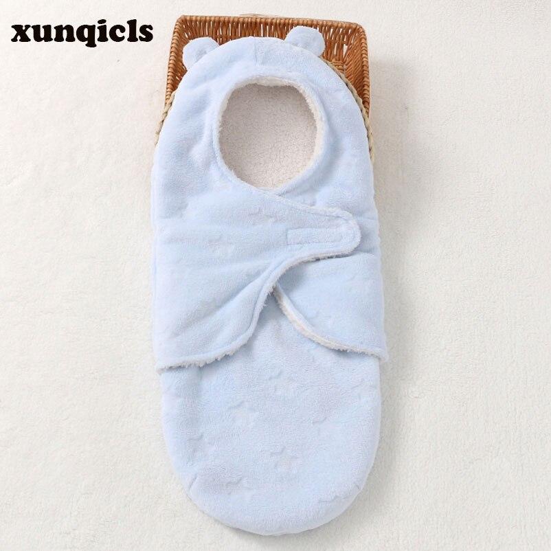 Xunqicls bébé couverture emmaillotage nouveau-né lange d'emmaillotage infantile enveloppe poussette Wrap bambins bébé sac de couchage Unsex