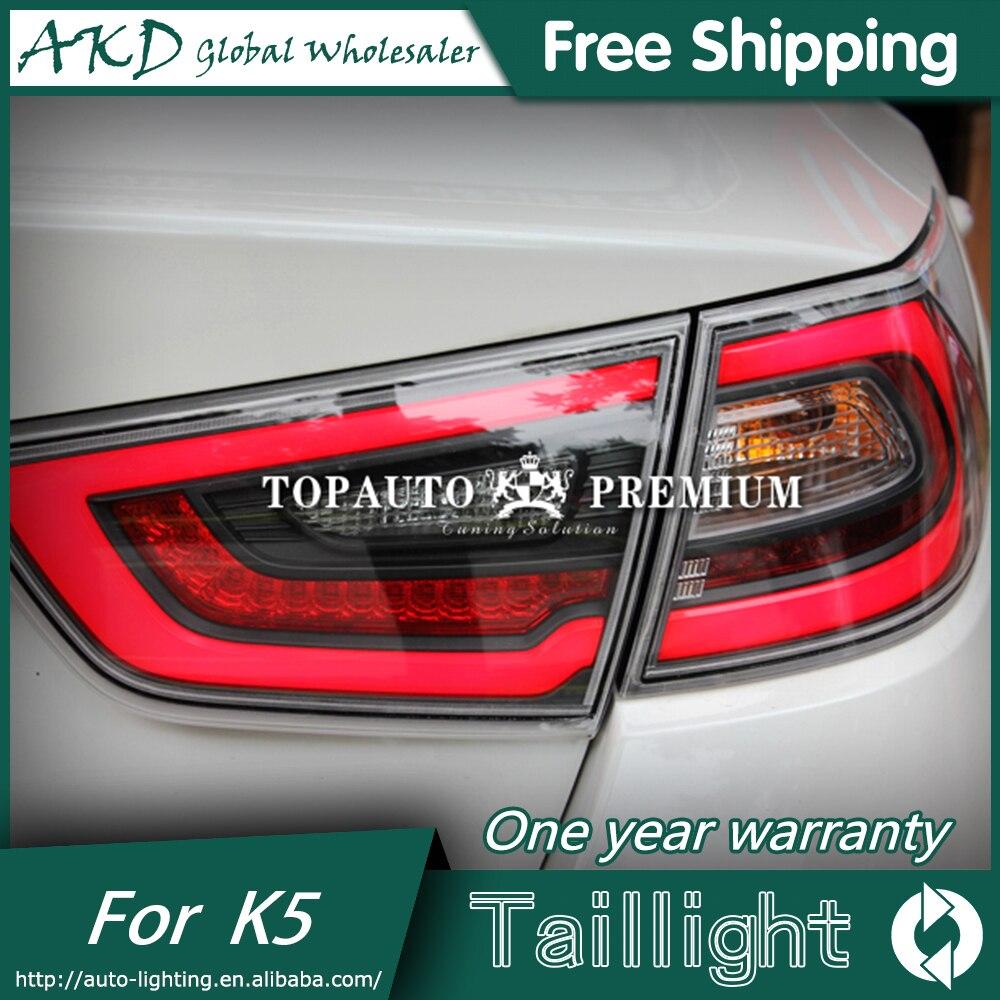 AKD Car Styling for Kia K5 Rio Taillight 2014-2015 Korea Design K5 LED Taillight LED  Tail Light Rear Lamp автоинструменты new design autocom cdp 2014 2 3in1 led ds150