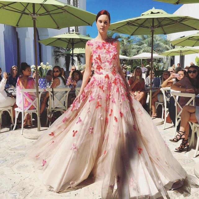 Elegant Champagne Formal Dresses Tulle A Line Long Vestidos De Festa ...