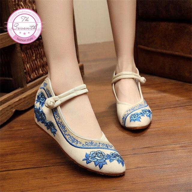 4 Colori Rosa Ricamo Delle Donne Scarpe Stile Cinese Vecchia  Pechino   Vecchia 893949