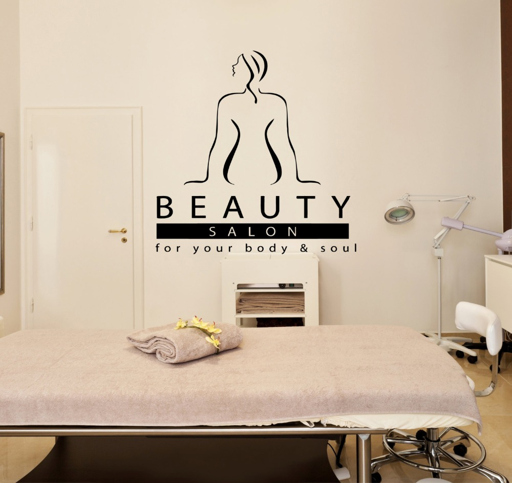 Massage Therapist Spa Woman Beauty Salon Wall Decal Quote For Your Body & Soul Sticker Therapy Relax DIYSYY574