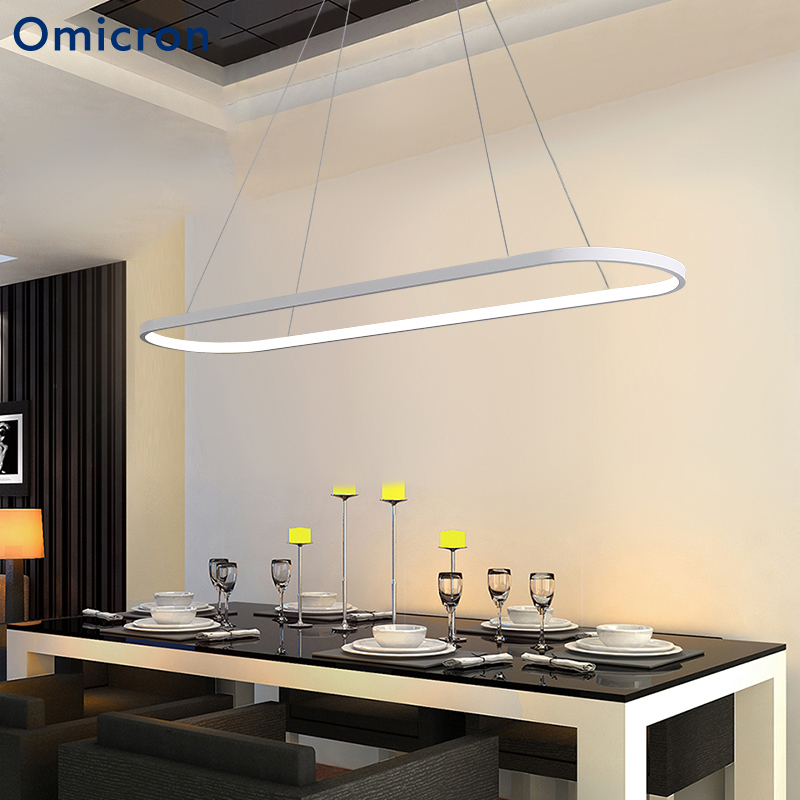 Omicron Aluminum Modern LED Chandeliers Black And White Hanging Lamps For Living Room Bedroom Foyer Home Hotel Decor LightsOmicron Aluminum Modern LED Chandeliers Black And White Hanging Lamps For Living Room Bedroom Foyer Home Hotel Decor Lights