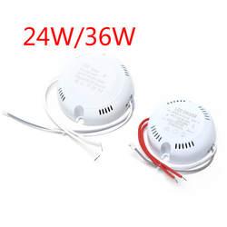 Светодио дный 24 Вт 36 светодиодный драйвер, потолочный драйвер В, 220 В круглый драйвер освещения преобразования для светодио дный