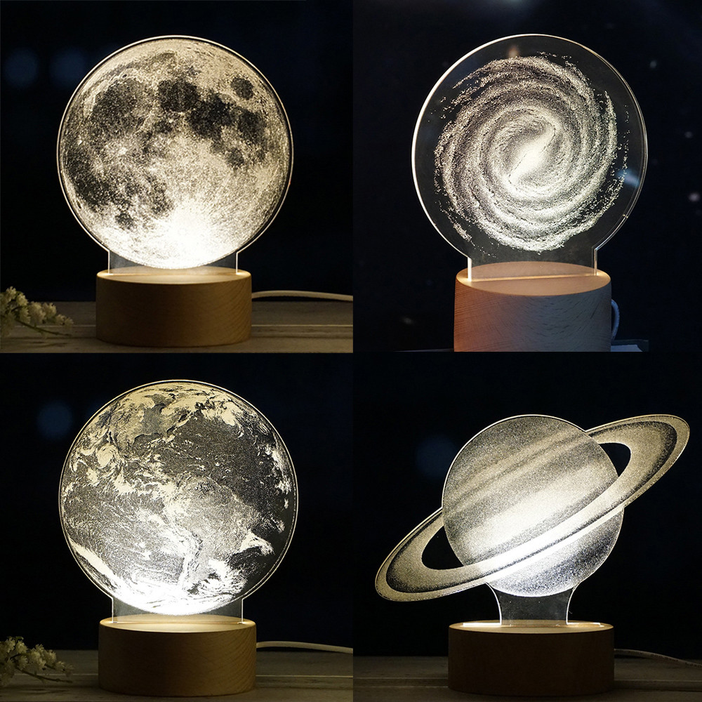 HIINST Children Milky Way Panel Acrylic 3D LED Earth Lamp Night Light Desk Birthday Gift  Dropship DD#