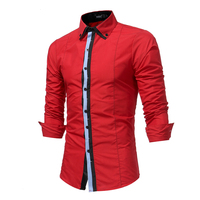 Dress Shirts 2018 Spring Autumn Features Shirts Men Casual Fight Color New Arrival Long Sleeve Casual