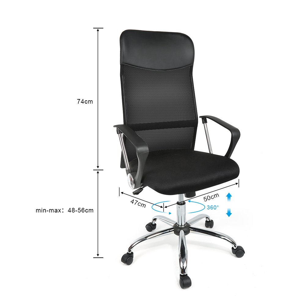 Office Max Computer Chairs Us 29 59 20 Off 360degree Rotatable Office Chair Office Soft Rubber Computer Chair Caster Wheel Adjustable Gaming Chair Desk Chair Furniture Hwc In