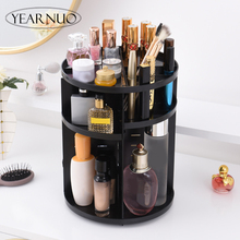 2018 Tricolor 360-degree Rotating Makeup Organizer Box Brush Holder Jewelry Organizer Case Jewelry Makeup Cosmetic Storage Box