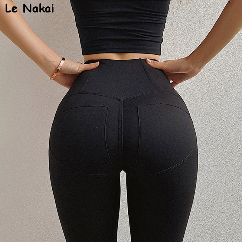 2019 Scrunch Booty leggings For Women Compression Yoga Pants Sexy Gym Leggings Running Tights Moto Workout Fitness Apparel