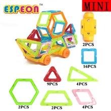Mini Magnetic Designer Educational Building Blocks 39pcs/Set Engineering Vehicle Plastic Assemble Enlighten Bricks For Kids Gift