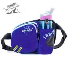 TANLUHU Men Women Waterproof Outdoor Sports Kettle Water Bottle Nylon Shoulder Hiking Running Waist Bag