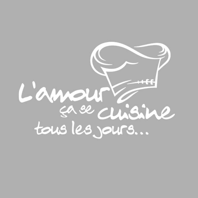 French Quotes Vinyl Sticker L Amour Cuisine Tour Les Jours