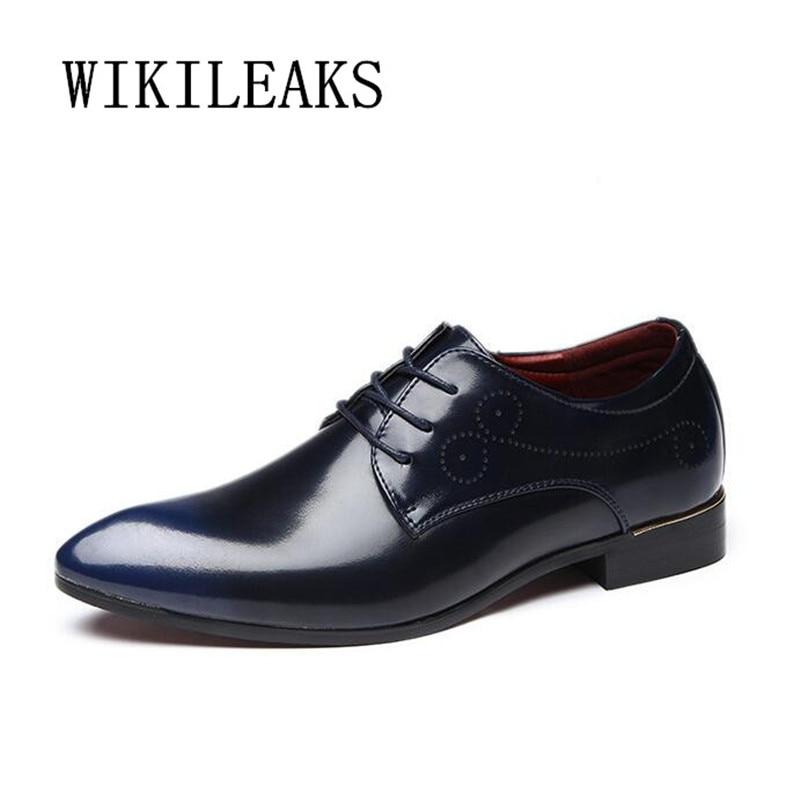 Designer Men Shoes Genuine Leather Men Formal Wedding Dress Shoes Luxury Brand Mens Busi ...