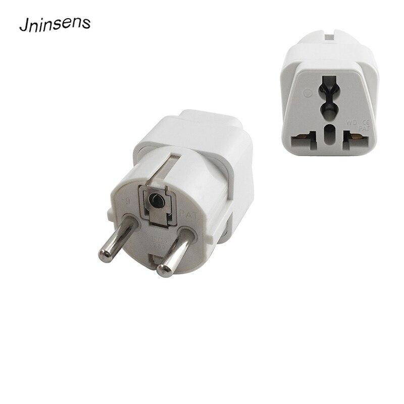 Universal KR EU Plug Adapter 2 Pin US UK To EU KR Europe Korea German France Travel Power Adapter Electrical Socket Plug Outlet
