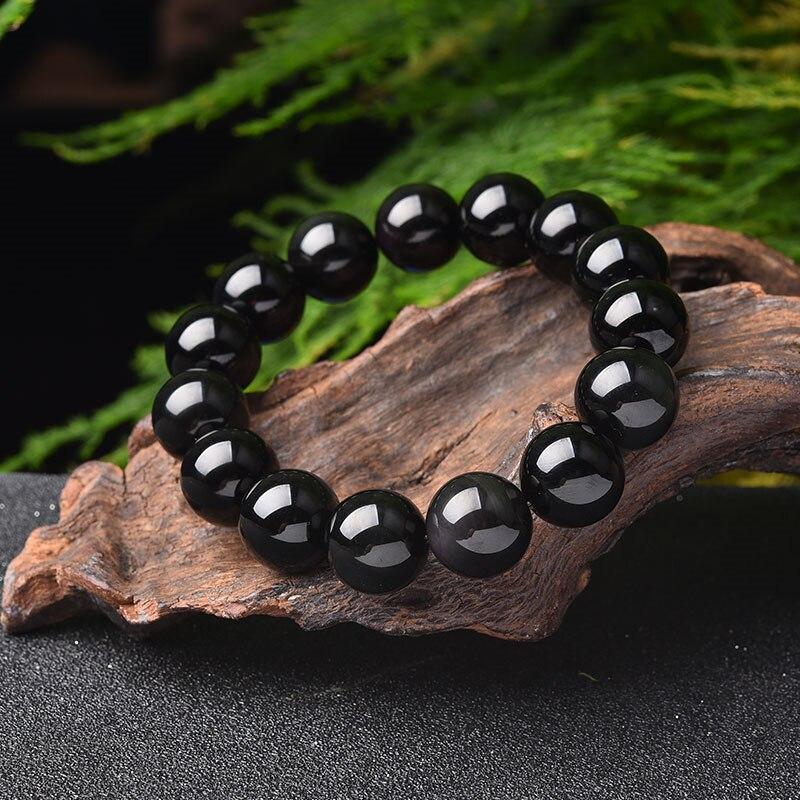 2019 new 14 mm beaded jade bracelet black ochre bead bracelet female bracelet jewelry with certificate