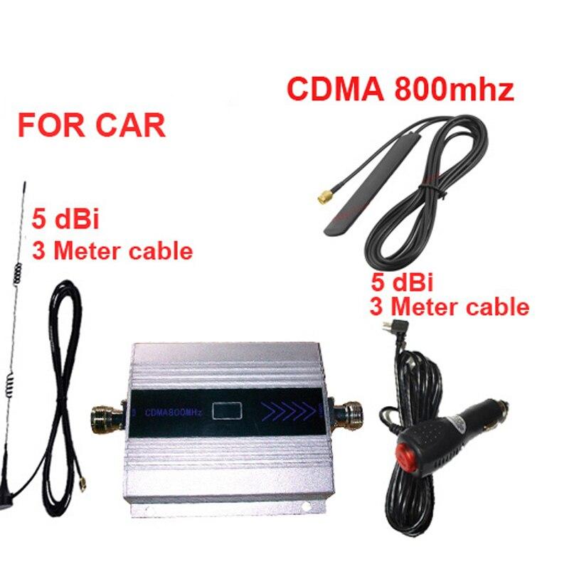 Pour booster de voiture CDMA800 booster de signal de téléphone portable pour voiture, affichage LCD cdma 800 mhz signal répétez CDMA pour répéteur de véhicule