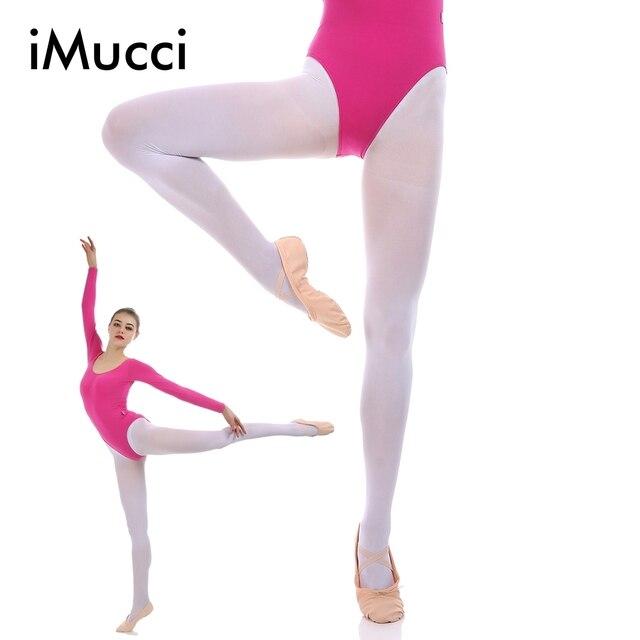 IMucci Mulheres Conversíveis Collants de Dança De Balé Profissional Completo Pé de Veludo Adulto Meia Menina Meias Leggings de Dança Da Bailarina