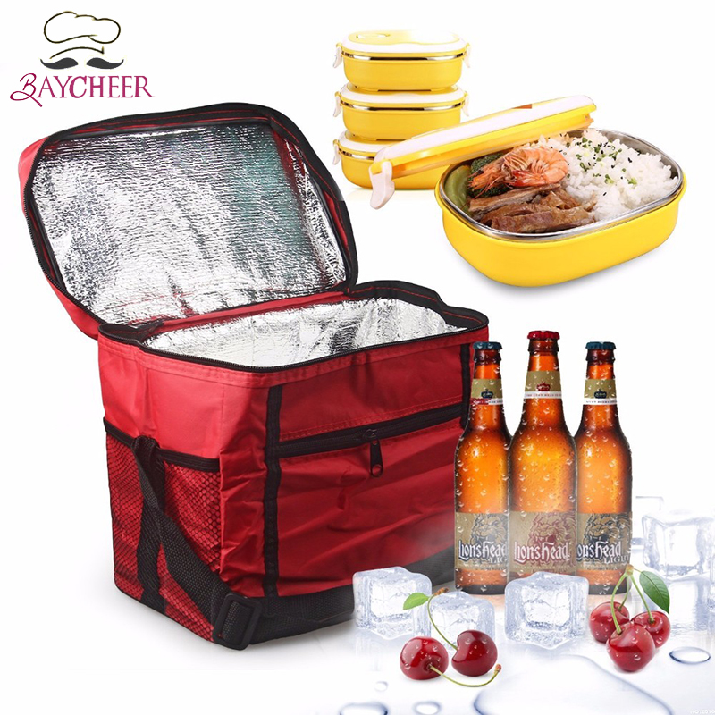 Thermal Insulated Lunch Storage Cooler Bag Portable Milk Ice Box For Travel Camping Outdoor Picnic