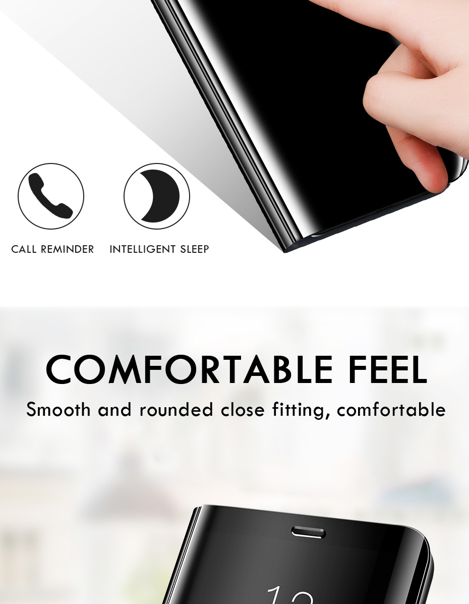 Smart Mirror Phone Case For Samsung Galaxy S10 S9 S8 Plus S10E A6 A8 A7 12