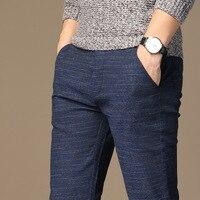 MRMT 2019 Брендовые мужские s весенние и летние повседневные брюки мужские полосатые микро эластичные прямые брюки