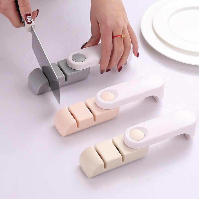 Многофункциональный бытовой Толщина двойной слот двойного назначения поворотный Быстрый камень отточить точилка складной точилка Кухня п...