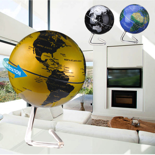 Kiwarm 4 dia rotation automatic rotating world globe map battery kiwarm 4 dia rotation automatic rotating world globe map battery powered desktop home office decor ornament gumiabroncs Image collections