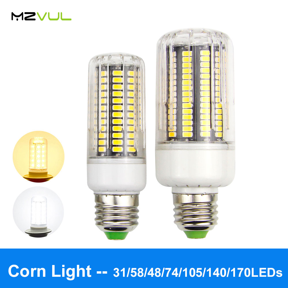 High brightness LED bulb E27 No Flicker LED Lamp Smart IC AC220V Corn Light 5736 SMD Lampada Led Spotlight Bulb for Chandelier
