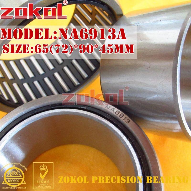 ZOKOL bearing NA6913 A NA6913A Entity ferrule needle roller bearing 65(72)*90*45mm rna4913 heavy duty needle roller bearing entity needle bearing without inner ring 4644913 size 72 90 25