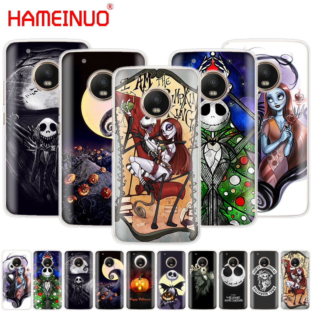 Nightmare Before Christmas Phone Case.Us 1 93 34 Off Hameinuo Nightmare Before Christmas Alloween Case Phone Cover For Motorola Moto X4 C G6 G5 G5s G4 Z2 Z3 Play Plus In Half Wrapped