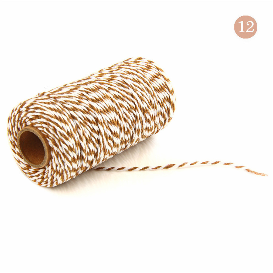 wholesale 30 colors 100 meters Double color cotton rope cotton cord Used in  gift wrapping Decorative gift The bakery
