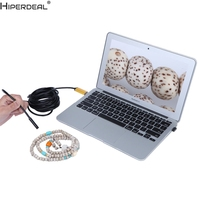 HIPERDEAL 2 In 1 Android USB Endoscope Inspection 7mm Camera 6 LED HD IP67 Waterproof 2M
