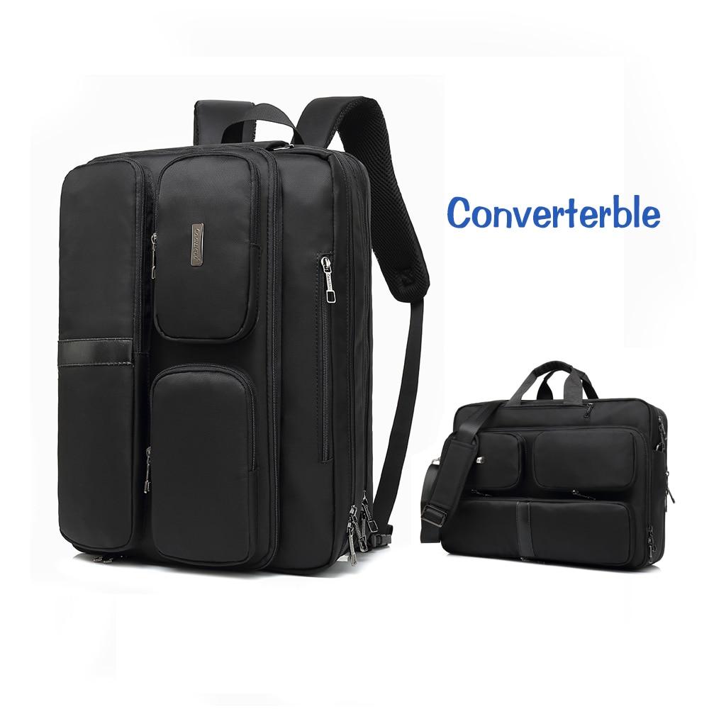 Big capacity many room design laptop backpack converterble handbag business bag for 17 17 3 inch