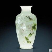 Handmade ceramic master hand painted half knife mud vase new Chinese style living room shelf decoration ornaments