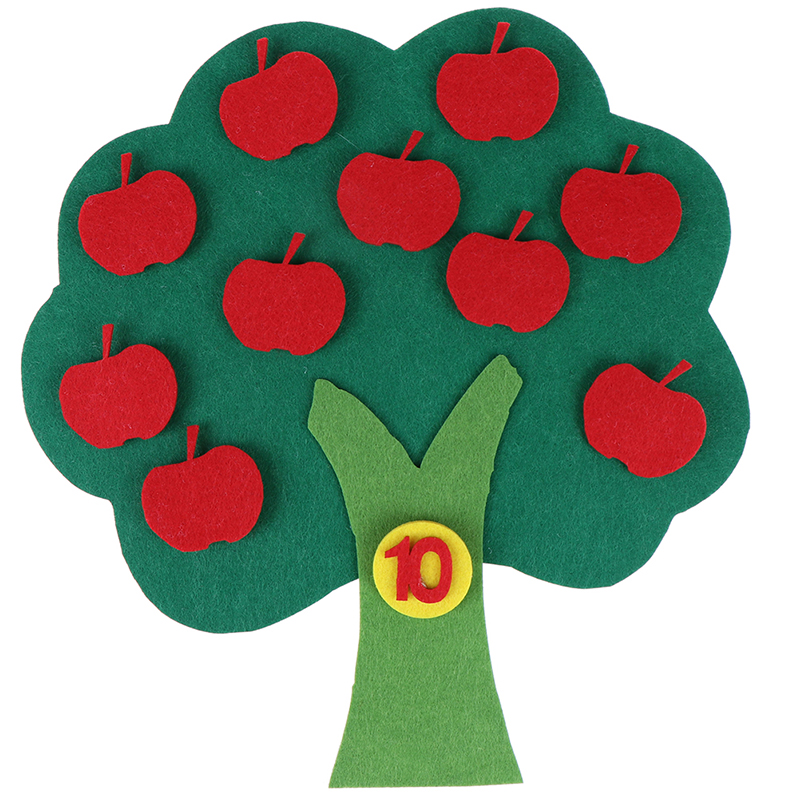Manual Apple Trees Montessori Teaching Aids Math Toys Teaching Kindergarten Diy Weave Cloth Early Learning Education Toys