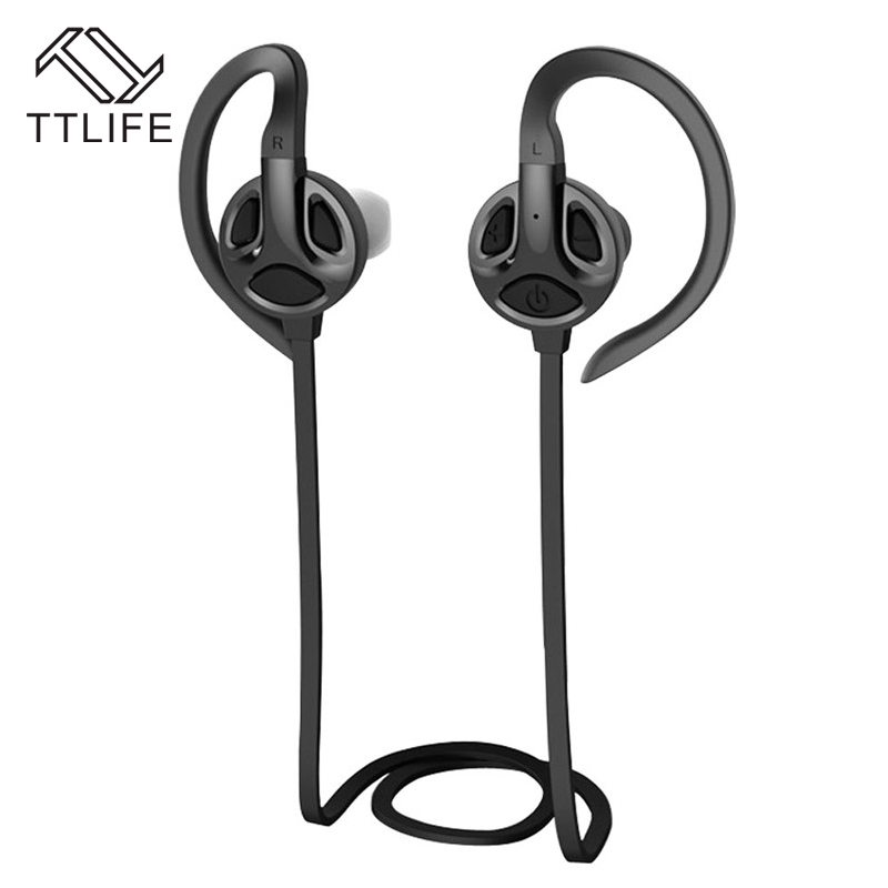 TTLIFE High Quality Stereo Earphone Wireless Bluetooth 4.1 Sports Earphones Ear Hook Earbuds With Mic For iPhone xiamo Phones hot high quality sports stereo earphones with mic 3 5mm universal use for mobile phones mp3 mp4 gg11101