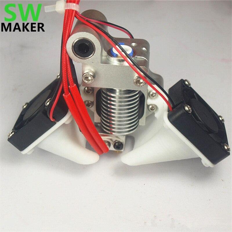 Ultimaker Original V6 Hot End Mount Full Assembly Kit For DIY 3D Printer J-head Metal Mount Holder 3950 Thermistor