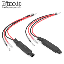 Купить с кэшбэком BJMOTO Universal Motorcycle 10W LED Reverse TurnSignal Light Load Resistor Indicator Decoder Solve Blinker Error Fix Error Flash