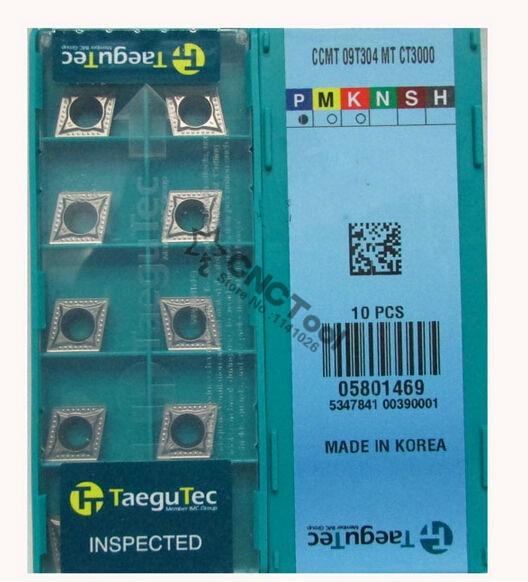 10pcs Taegute SCMT09T304-MT CT3000 Cermet Inserts New