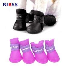 4 Шт. Резиновая Обувь Для Собак Cat Pet Dog Носки Конфеты Красочные Сапоги Водонепроницаемый собак Pet Дождь Обувь для Йорки собаки
