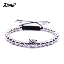 Ziime 2018 New Anil Arjandas Gold Silver Color Owl Bracelet Women Men Adjustable Braided Macrame Thread Bracelets Pulsera Hombre(China)
