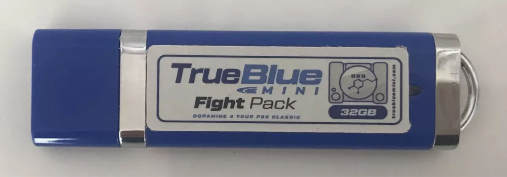 true blue mini Fight Pack 32GB with 58 games for ps1 console